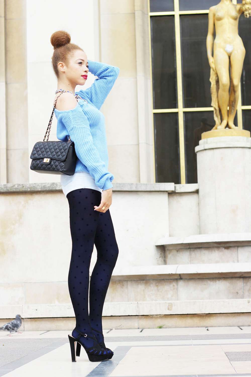 fatimayarie-lightblue-sweater-tights-bluedots-chanel-paris-heels-img_0817