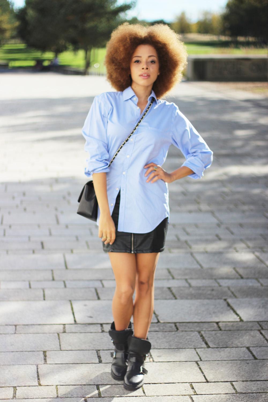 fatimayarie-royrobson-blue-mensshirt-afro-blackleatherskirt-miniskirt-img_3375
