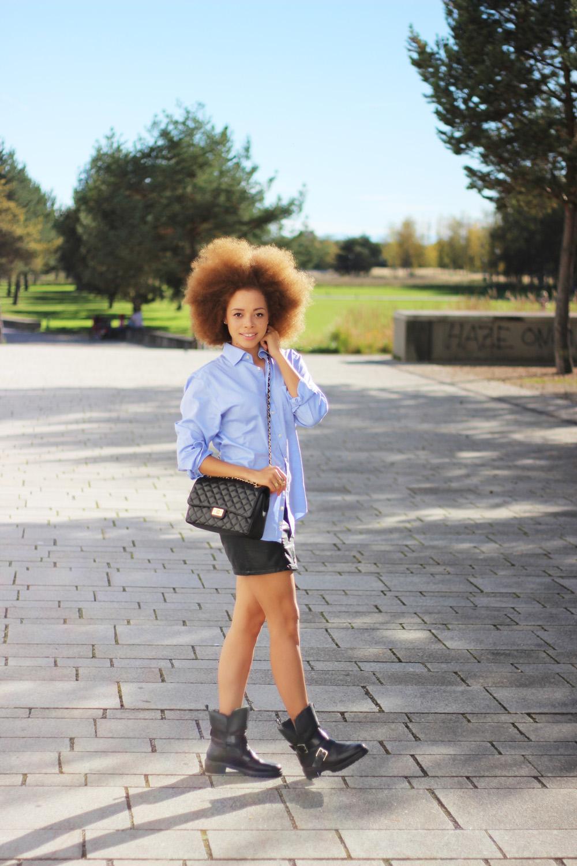 fatimayarie-royrobson-blue-mensshirt-afro-blackleatherskirt-miniskirt-img_3380