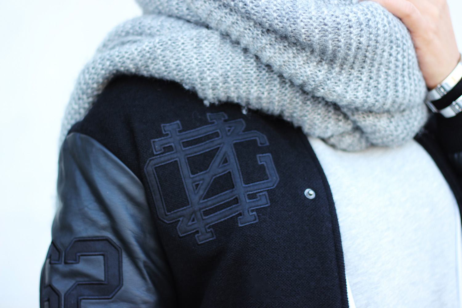 fatimayarie-black-bomberjacket-baseball-embroidered-number-greyscarf-img_6342