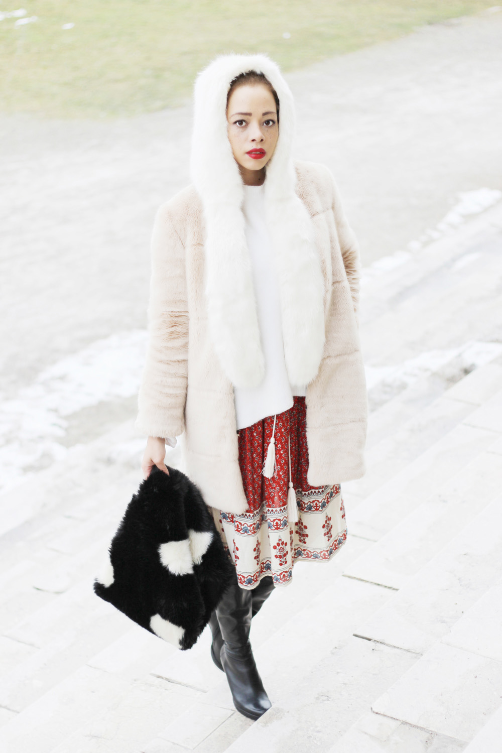 fatimayarie-white-fauxfur-cap-rose-coat-patterned-reddress-img_6805