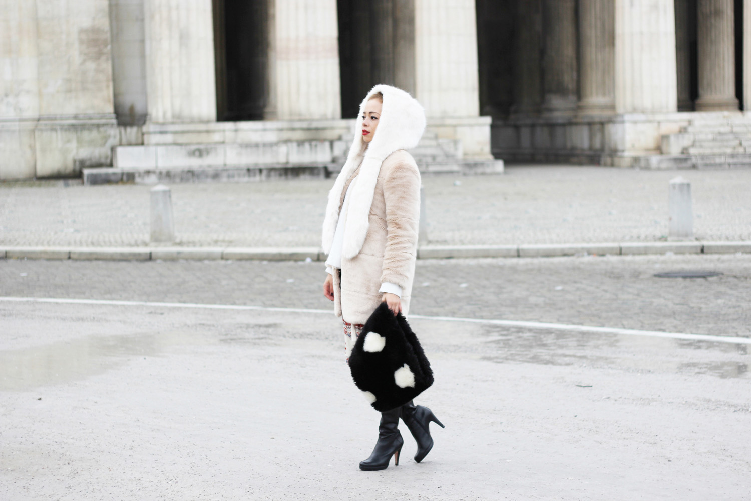 fatimayarie-white-fauxfur-cap-rose-coat-reddress-leatherboots-img_6993