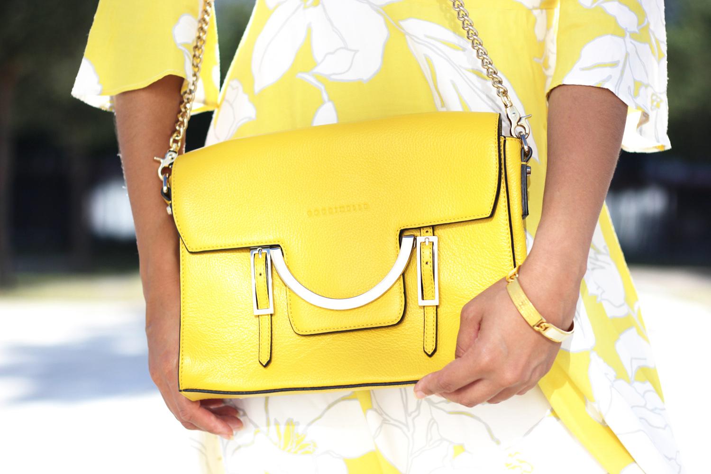LOOK | Coccinelle Celeste Lemon Bag & Yellow Flower Dress
