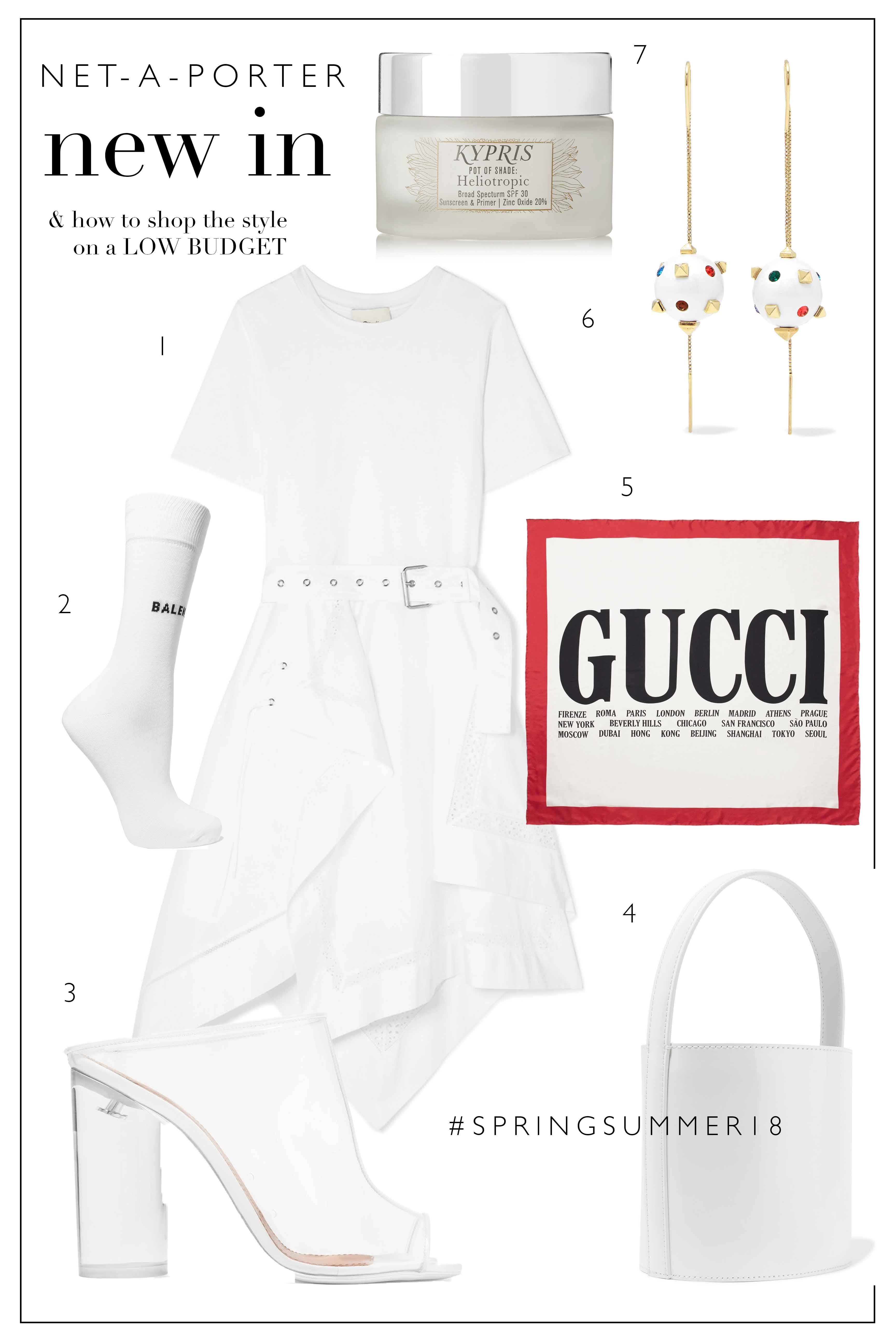 Net-A-Porter What's New & How To Shop It Low-Budget | All White SS18